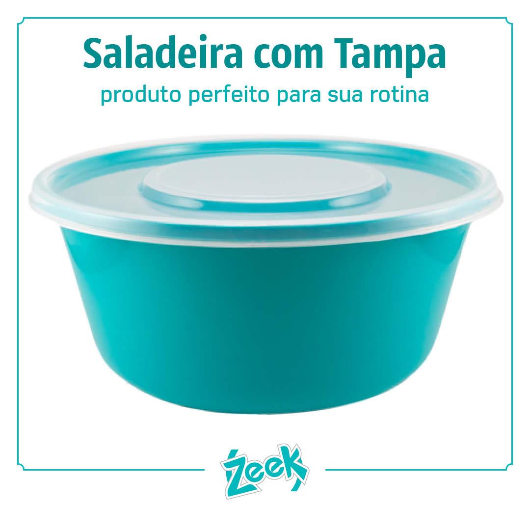 Saladeira com tampa